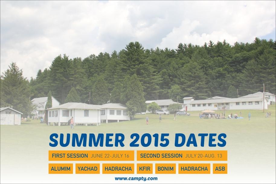 Summer 2015 Dates